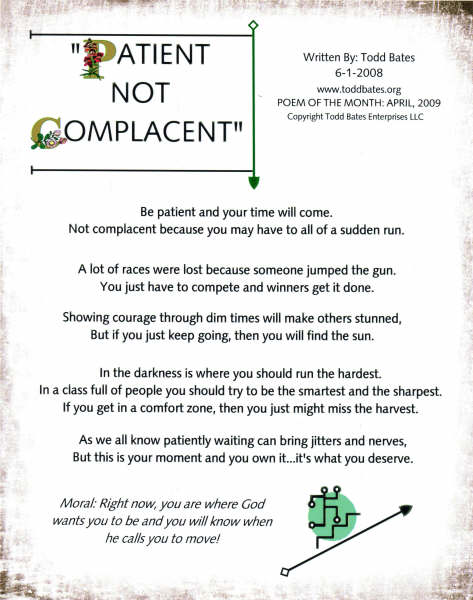PATIENT NOT COMPLACENT