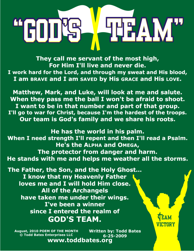 AUG 2010 - GOD'S TEAM